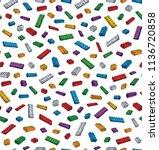 vibrant meccano puzzle kit set... | Shutterstock .eps vector #1136720858