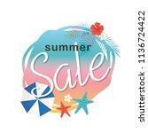 summer sale illustration | Shutterstock .eps vector #1136724422