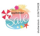 summer sale illustration | Shutterstock .eps vector #1136724428