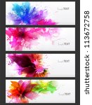 abstract artistic background... | Shutterstock .eps vector #113672758