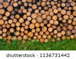 natural wooden background  ...   Shutterstock . vector #1136731442