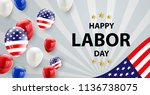 labor day card design american... | Shutterstock .eps vector #1136738075