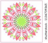 vector mandala. holi party... | Shutterstock .eps vector #1136739365