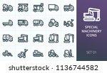 heavy construction equipment... | Shutterstock .eps vector #1136744582