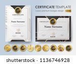 certificate template with... | Shutterstock .eps vector #1136746928