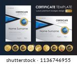 certificate template with... | Shutterstock .eps vector #1136746955