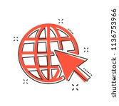 vector cartoon go to web icon... | Shutterstock .eps vector #1136753966