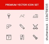 modern  simple vector icon set... | Shutterstock .eps vector #1136758535