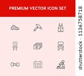 modern  simple vector icon set... | Shutterstock .eps vector #1136758718