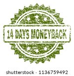 14 days moneyback stamp seal... | Shutterstock .eps vector #1136759492
