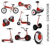 realistic self balancing gyro... | Shutterstock . vector #1136765108