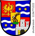 coat of arms of varazdin county ... | Shutterstock .eps vector #1136771222
