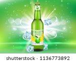 apple cider package mockup.... | Shutterstock .eps vector #1136773892