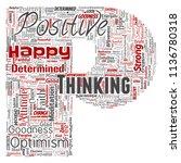 vector conceptual positive... | Shutterstock .eps vector #1136780318