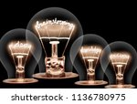 photo of light bulbs with... | Shutterstock . vector #1136780975