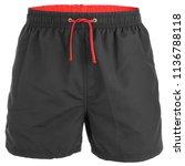 black men shorts for swimming...   Shutterstock . vector #1136788118