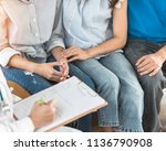 teenager patient with parents... | Shutterstock . vector #1136790908