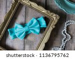 bow headband set of colorful... | Shutterstock . vector #1136795762
