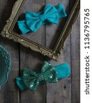 bow headband set of colorful... | Shutterstock . vector #1136795765