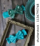 bow headband set of colorful... | Shutterstock . vector #1136795768