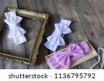 bow headband set of colorful... | Shutterstock . vector #1136795792