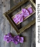bow headband set of colorful... | Shutterstock . vector #1136795798