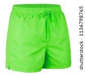 green men shorts for swimming...   Shutterstock . vector #1136798765
