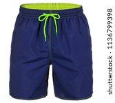 navy blue men shorts for...   Shutterstock . vector #1136799398