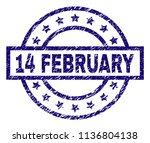 14 february stamp seal... | Shutterstock .eps vector #1136804138