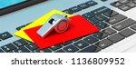 soccer  football referee.... | Shutterstock . vector #1136809952