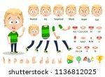 cute boy character constructor... | Shutterstock .eps vector #1136812025