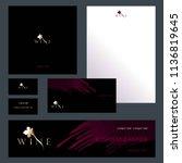 design templates for wine... | Shutterstock .eps vector #1136819645