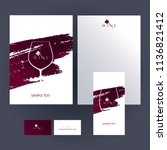 design templates for wine... | Shutterstock .eps vector #1136821412