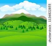 summer landscape. background.... | Shutterstock . vector #1136822855