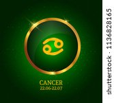 horoscope. cancer. zodiac icon. ... | Shutterstock .eps vector #1136828165