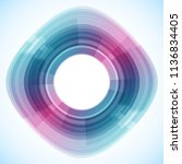 geometric frame from circles ... | Shutterstock .eps vector #1136834405