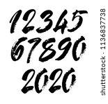 vector set of calligraphic... | Shutterstock .eps vector #1136837738