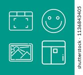 interface related set of 4... | Shutterstock . vector #1136843405