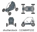 baja vehicle without outline | Shutterstock .eps vector #1136849132