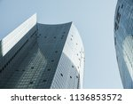 abstract modern architecture...   Shutterstock . vector #1136853572