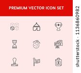 modern  simple vector icon set... | Shutterstock .eps vector #1136860982