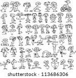 cute happy kids | Shutterstock .eps vector #113686306