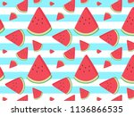 fruity vector pattern with... | Shutterstock .eps vector #1136866535