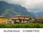 view on traditional italian... | Shutterstock . vector #1136867432