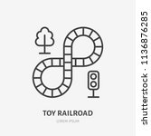 toy railroad line icon ... | Shutterstock .eps vector #1136876285