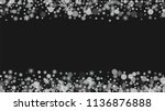 snowflake border for christmas... | Shutterstock .eps vector #1136876888