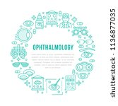 ophthalmology  eyes health care ... | Shutterstock .eps vector #1136877035