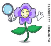detective pansy flower... | Shutterstock .eps vector #1136880956