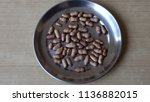 blackberry seeds is use for... | Shutterstock . vector #1136882015