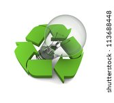 lightbulb inside recycling... | Shutterstock . vector #113688448
